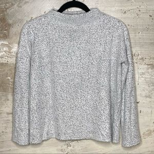 BP funnel neck heathered gray lightweight sweater